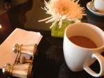 Frühstück: eine Tasse Kaffee